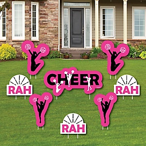 We've Got Spirit - Cheerleading - Yard Sign & Outdoor Lawn Decorations - Birthday Party or Cheerleader Party Yard Signs - Set of 8