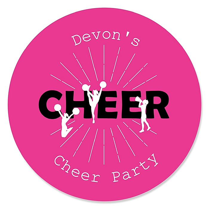 We've Got Spirit - Cheerleading - Personalized Birthday Party or Cheerleader Party Sticker Labels - 24 ct
