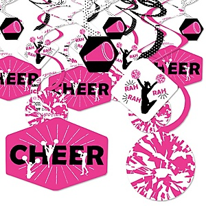 We've Got Spirit - Cheerleading - Birthday Party or Cheerleader Party Hanging Decor - Party Decoration Swirls - Set of 40