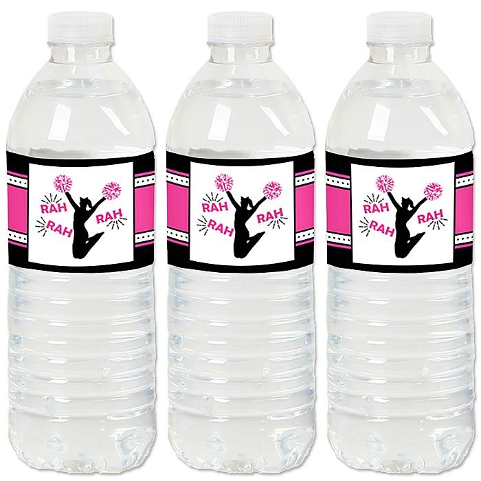 We've Got Spirit - Cheerleading - Birthday Party or Cheerleader Party Water Bottle Sticker Labels - Set of 20