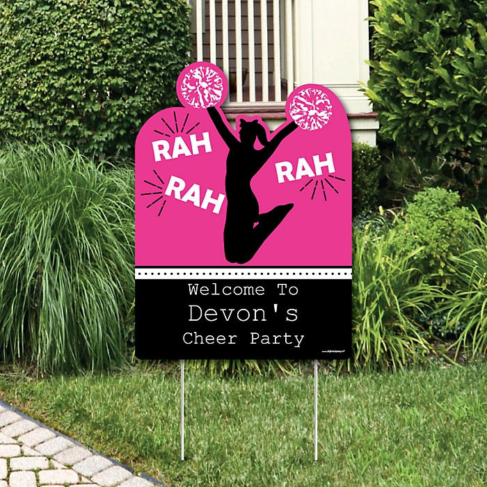 We've Got Spirit - Cheerleading - Party Decorations - Birthday Party or Cheerleader Party Personalized Welcome Yard Sign