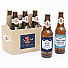 Cheers to You, Dad - 6 Beer Bottle Labels and 1 Carrier Father's Day Gift