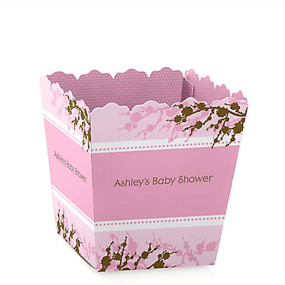 Baby Cherry Blossom Party Mini Favor Boxes Personalized Baby