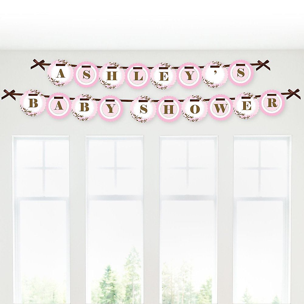 Baby Cherry Blossom - Personalized Baby Shower Garland Letter ...