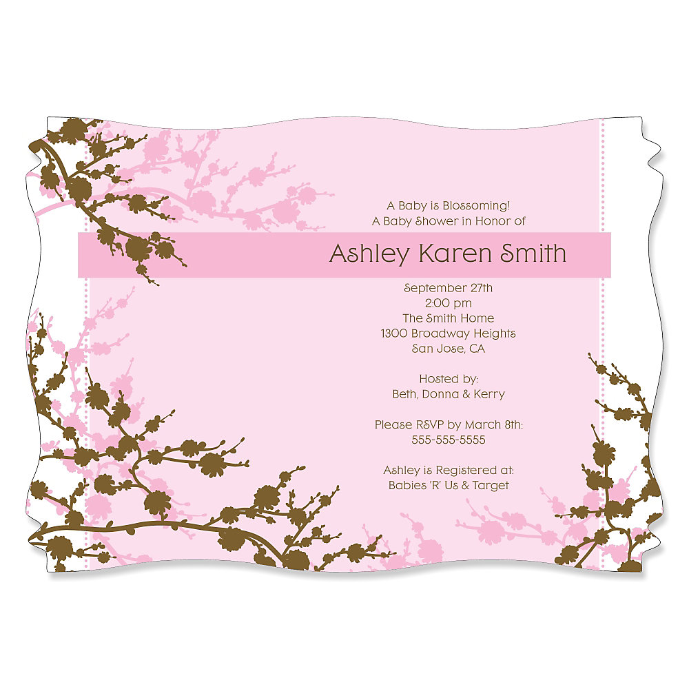 Baby Cherry Blossom - Personalized Baby Shower Invitations ...