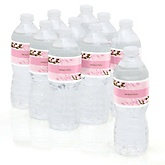 Cherry Blossom - Personalized Party Water Bottle Sticker Labels - Set of 10