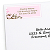 Cherry Blossom - Personalized Bridal Shower Return Address Labels - 30 ct