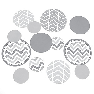 Chevron Gray - Party Table Confetti - 27 ct