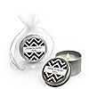 Chevron Black and White - Personalized Everyday Party Candle Tin Favors
