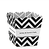Chevron Black and White - Personalized Everyday Party Candy Boxes