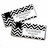 Chevron Black and White - Personalized Everyday Party Candy Bar Wrapper Favors