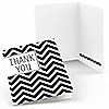 Chevron Black and White - Everyday Party Thank You Cards - 8 ct