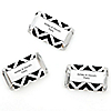 Chevron Black and White - Personalized Everyday Party Mini Candy Bar Wrapper Favors - 20 ct
