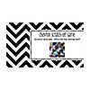 Chevron Black and White - Personalized Everyday Party Game Scratch Off Cards - 22 ct