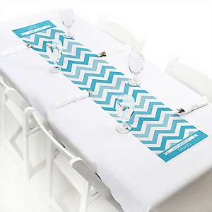 Chevron Blue - Personalized Party Petite Table Runner