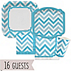 Chevron Blue - Everyday Party 16 Big Dot Bundle