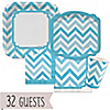 Chevron Blue - Everyday Party 32 Big Dot Bundle