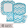 Chevron Blue - Everyday Party 48 Big Dot Bundle