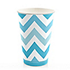 Chevron Blue - Everyday Party Hot/Cold Cups - 8 ct