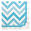 Chevron Blue - Everyday Party Luncheon Napkins - 16 ct