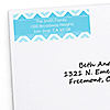 Chevron Blue - Personalized Everyday Party Return Address Labels - 30 ct