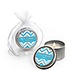 Chevron Blue - Personalized Everyday Party Candle Tin Favors