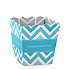 Chevron Blue - Personalized Everyday Party Candy Boxes
