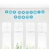 Chevron Blue - Personalized Everyday Party Garland Letter Banner
