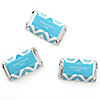 Chevron Blue - Personalized Everyday Party Mini Candy Bar Wrapper Favors - 20 ct
