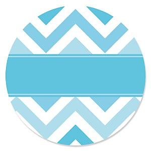 Chevron Blue - Party Theme