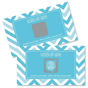 Chevron Blue - Party Game Scratch Off Cards - 22 ct