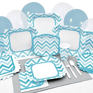 Chevron Blue - Party Tableware