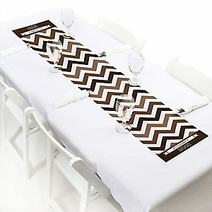 Chevron Brown - Personalized Party Petite Table Runner