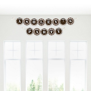 Chevron Brown - Personalized Party Garland Letter Banners