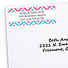 Chevron Gender Reveal - Personalized Baby Shower Return Address Labels - 30 ct