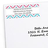 Gender Reveal Chevron - Personalized Baby Shower Return Address Labels - 30 ct