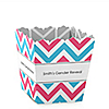 Chevron Gender Reveal - Party Mini Favor Boxes - Personalized Baby Shower Treat Candy Boxes - Set of 12