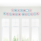 Chevron Gender Reveal - Personalized Baby Shower Garland Letter Banners