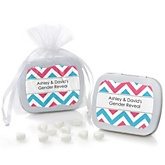 Chevron Gender Reveal - Personalized Baby Shower Mint Tin Favors