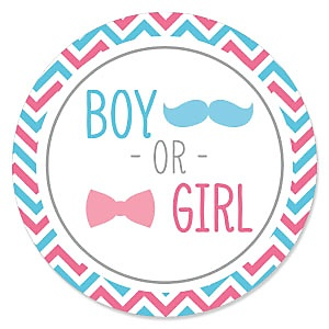 Chevron Gender Reveal - Baby Shower Theme