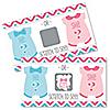 Girl Chevron Gender Reveal - Baby Girl Gender Reveal Scratch Off Cards - Baby Shower Game - Set of 22