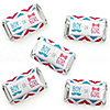 Chevron Gender Reveal - Mini Candy Bar Wrapper Stickers - Gender Reveal Small Favors - 40 Count