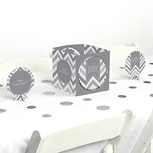 Chevron Gray - Baby Shower Centerpiece & Table Decoration Kit