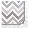 Chevron Gray - Everyday Party Luncheon Napkins - 16 ct