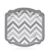 Chevron Gray - Everyday Party Dessert Plates - 8 ct