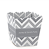 Chevron Gray - Personalized Everyday Party Candy Boxes