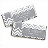 Chevron Gray - Personalized Everyday Party Candy Bar Wrapper Favors