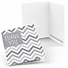 Chevron Gray - Everyday Party Thank You Cards - 8 ct