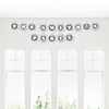 Chevron Gray - Personalized Everyday Party Garland Letter Banner