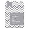 Chevron Gray - Personalized Everyday Party Invitations